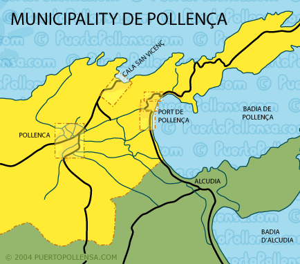 Municipality of Pollenca map