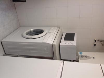 Utility with washing machine & microwave