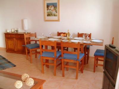 The dining area is also situated at the front of the property